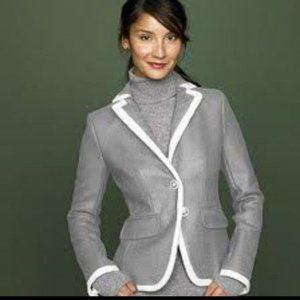 J. CREW Lexington Gray Wool Blazer Jacket 6